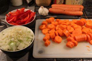 Gullasch - grøntsager