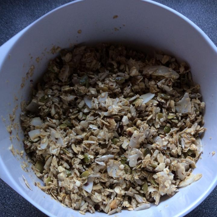 Müsli crunch i skål