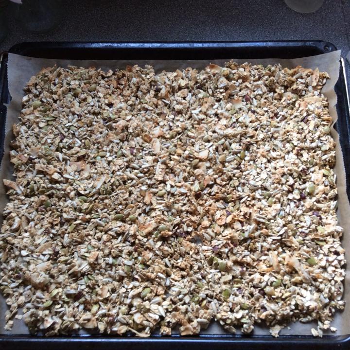 Müsli crunch efter ovn
