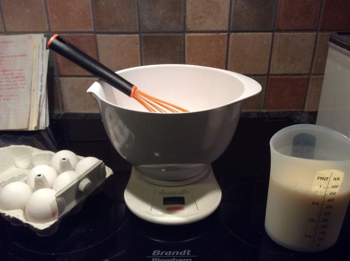 Pandekager - ingredienserne er klar